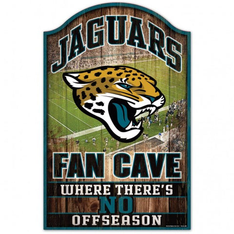 Jacksonville Jaguars Sign 11x17 Wood Fan Cave Design