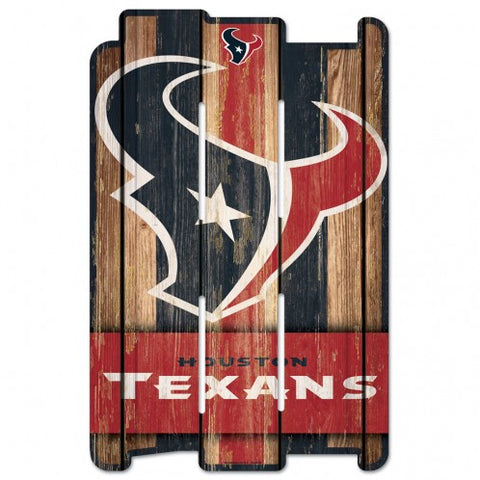 Houston Texans Sign 11x17 Wood Fence Style