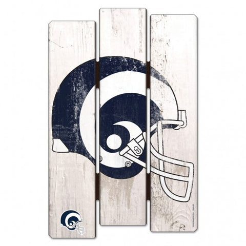 Los Angeles Rams Sign 11x17 Wood Fence Style