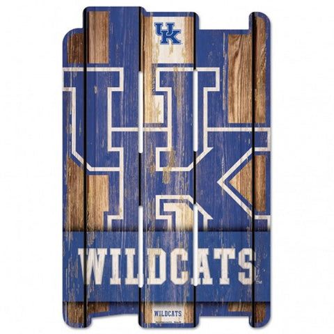 Kentucky Wildcats Sign 11x17 Wood Fence Style