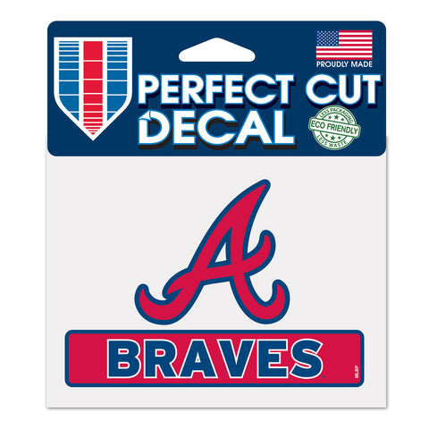 Atlanta Braves Decal 4.5x5.75 Perfect Cut Color