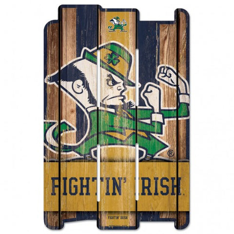 Notre Dame Fighting Irish Sign 11x17 Wood Fence Style