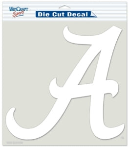 Alabama Crimson Tide Decal 8x8 Die Cut White