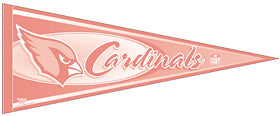 Arizona Cardinals Pennant - Pink