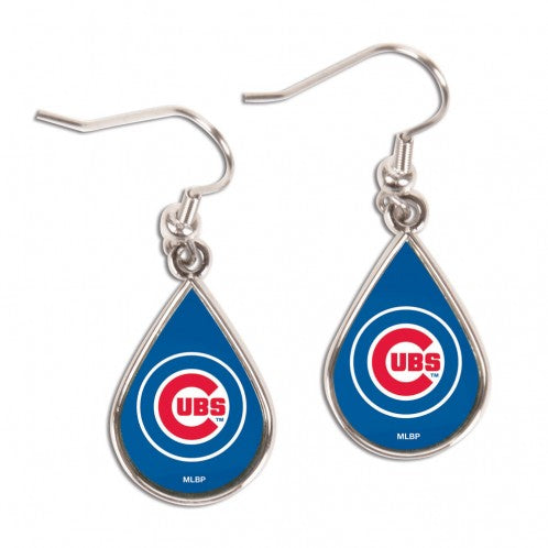 Chicago Cubs Earrings Tear Drop Style