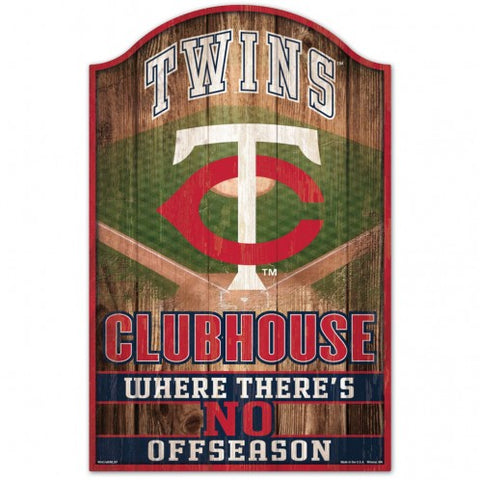 Minnesota Twins Sign 11x17 Wood Fan Cave Design - Special Order