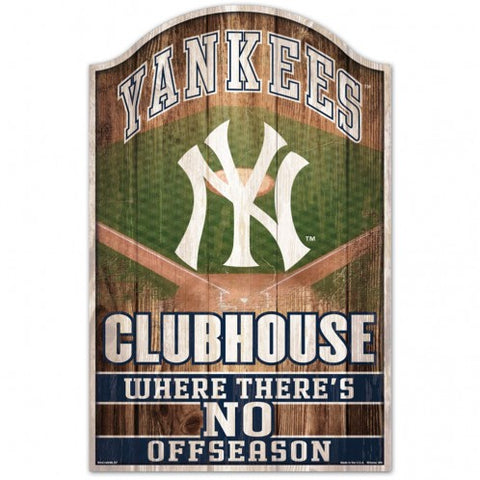 New York Yankees Sign 11x17 Wood Fan Cave Design