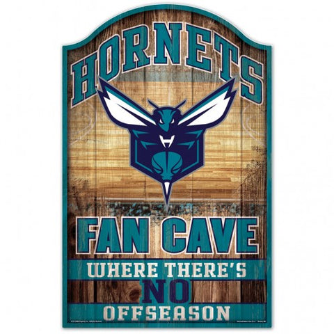 Charlotte Hornets Sign 11x17 Wood Fan Cave Design - Special Order