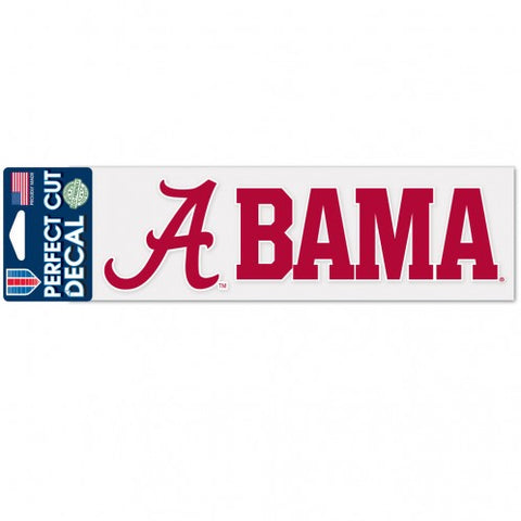 Alabama Crimson Tide Decal 3x10 Perfect Cut Wordmark Color