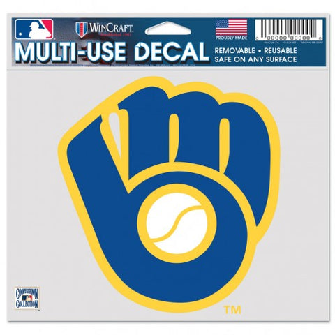 Milwaukee Brewers Decal 5x6 Multi Use Color Retro Logo Design