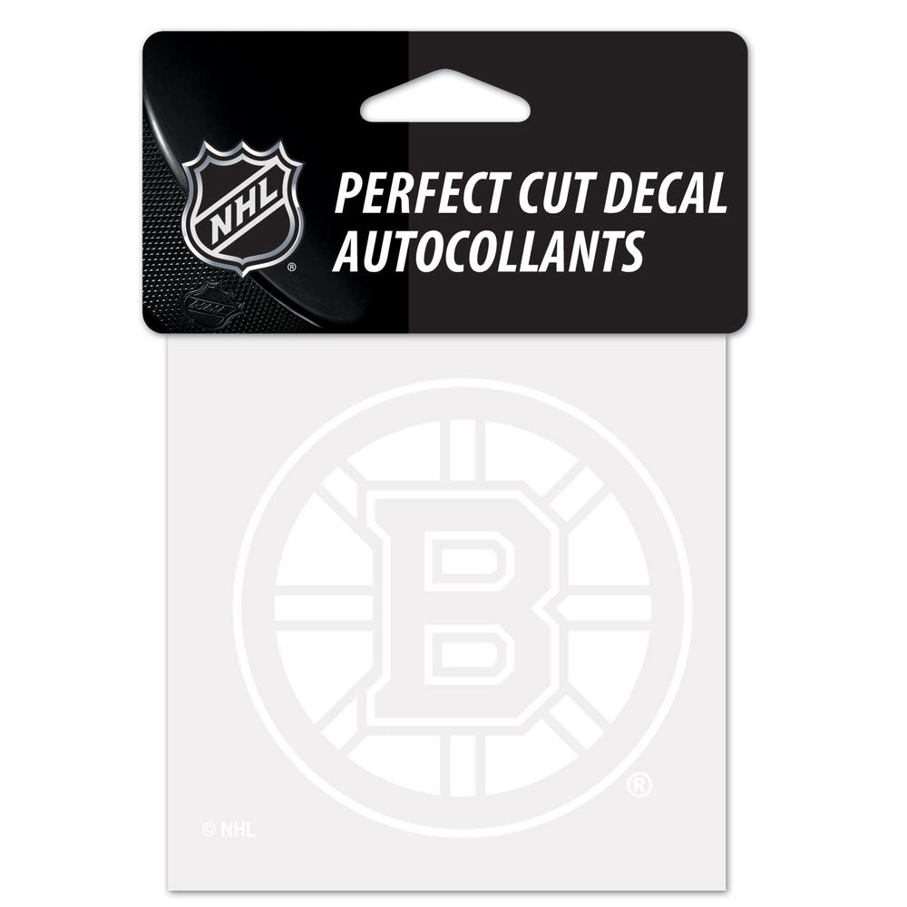 Boston Bruins Decal 4x4 Perfect Cut White