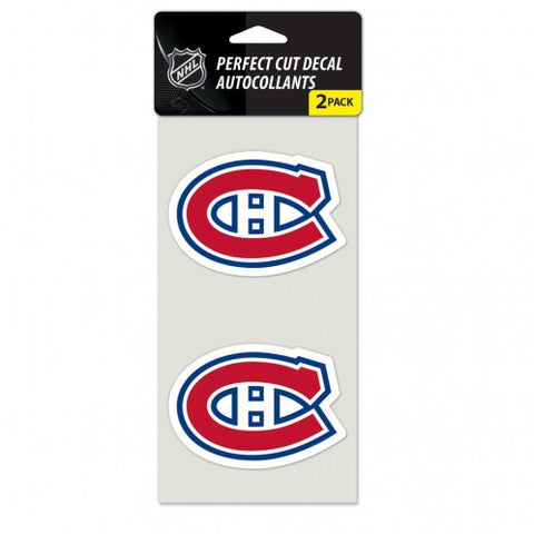 Montreal Canadiens Decal 4x4 Perfect Cut Set of 2 Special Order