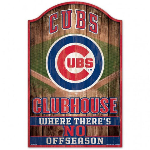 Chicago Cubs Sign 11x17 Wood Fan Cave Design