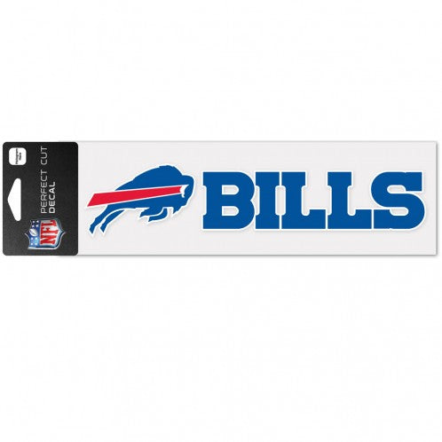 Buffalo Bills Decal 3x10 Perfect Cut Color Wordmark
