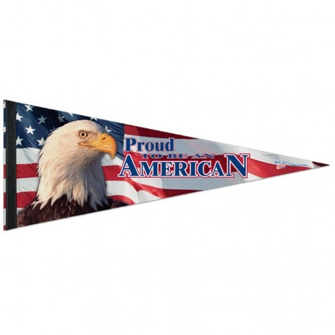 "American Flag Pennant - 12""x30"" - Proud To Be American - Special Order"