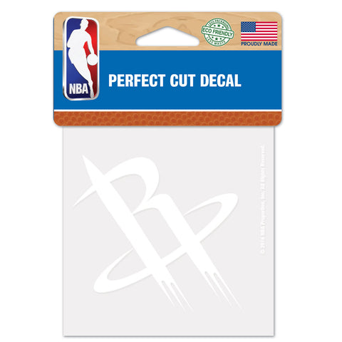 Houston Rockets Decal 4x4 Perfect Cut White