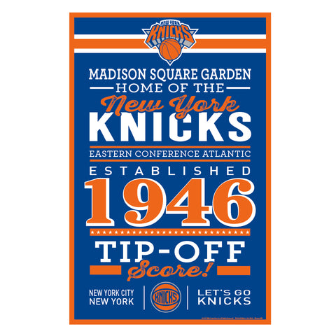 New York Knicks Sign 11x17 Wood Wordage Design