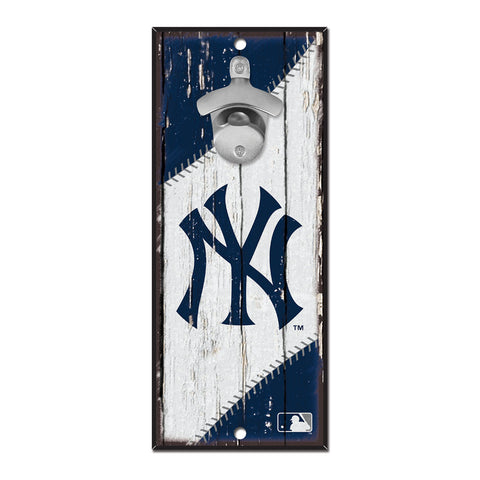 New York Yankees Sign Wood 5x11 Bottle Opener