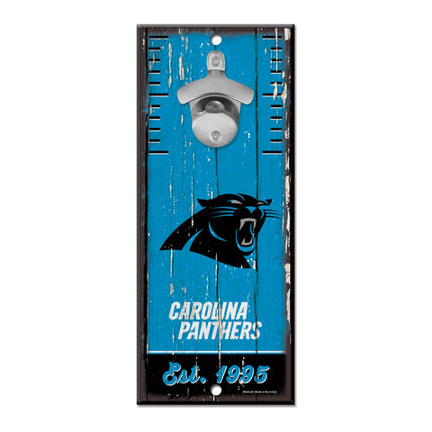 Carolina Panthers Sign Wood 5x11 Bottle Opener