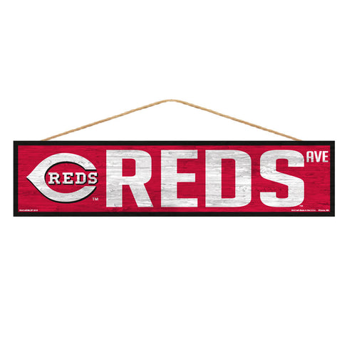 Cincinnati Reds Sign 4x17 Wood Avenue Design