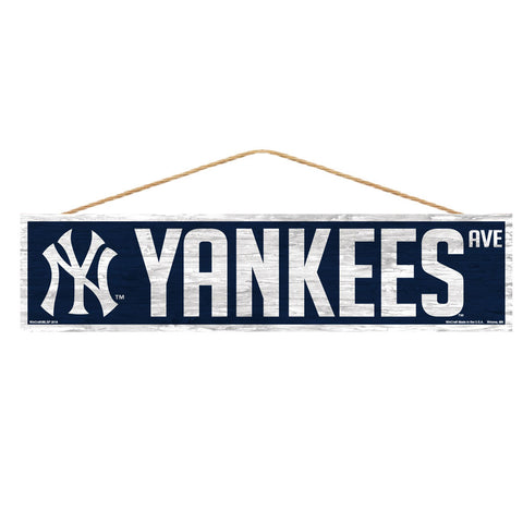 New York Yankees Sign 4x17 Wood Avenue Design
