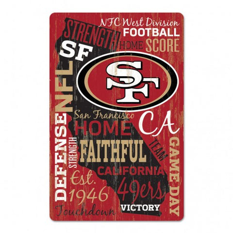 San Francisco 49ers Sign 11x17 Wood Wordage Design