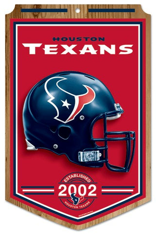 Houston Texans Sign 11x17 Wood Established