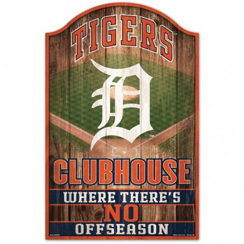 Detroit Tigers Sign 11x17 Wood Fan Cave Design