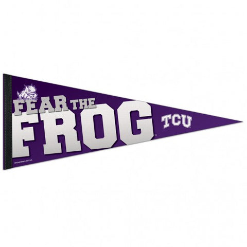 TCU Horned Frogs Pennant 12x30 Premium Style - Special Order