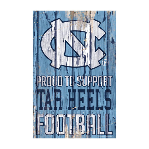 North Carolina Tar Heels Sign 11x17 Wood Proud to Support Design - Special Order