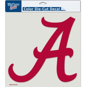 Alabama Crimson Tide Decal 8x8 Die Cut Color