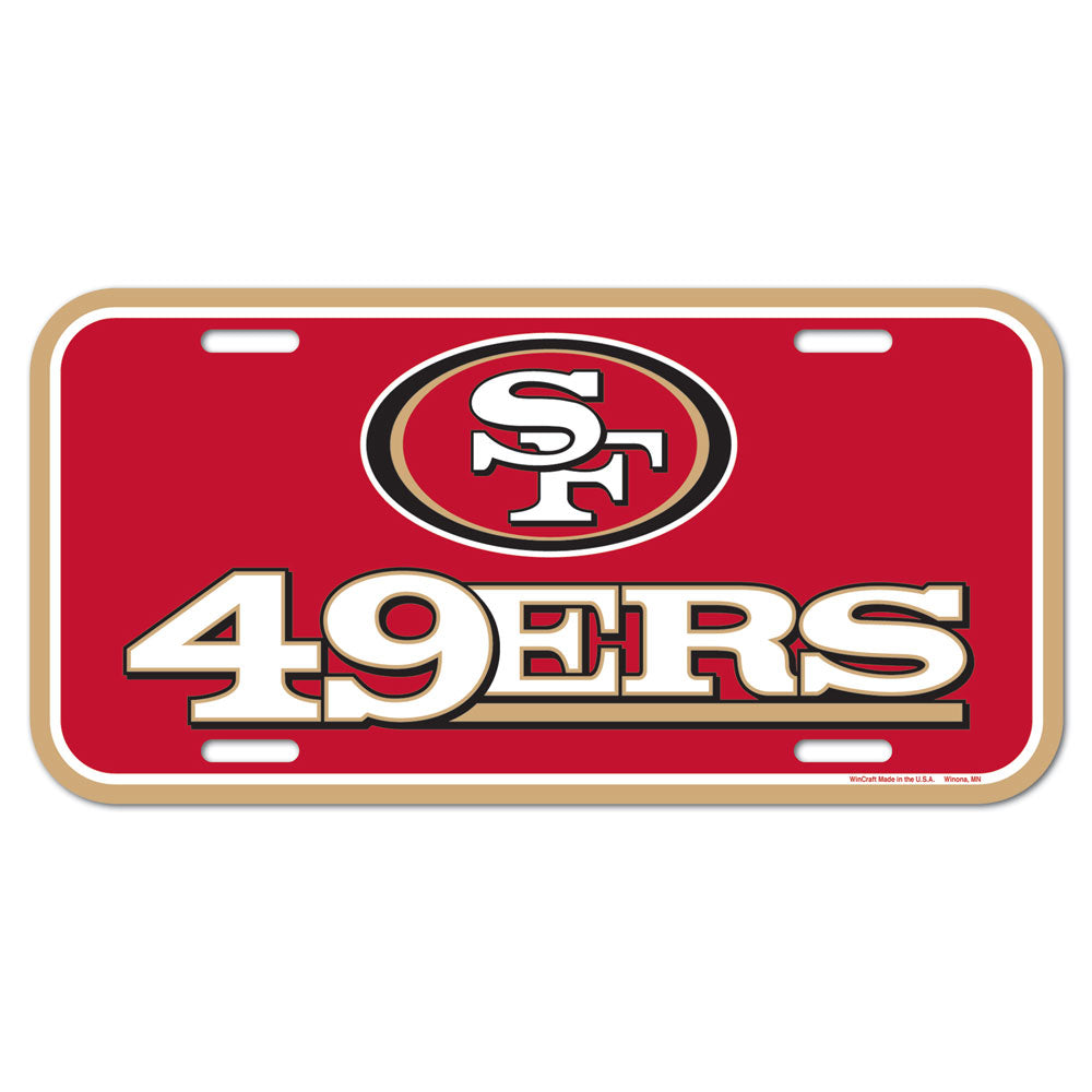 San Francisco 49ers License Plate