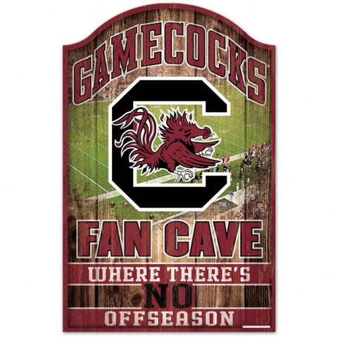 South Carolina Gamecocks Sign 11x17 Wood Fan Cave Design - Special Order
