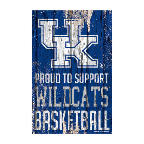 Kentucky Wildcats Sign 11x17 Wood Proud to Support Design - Special Order