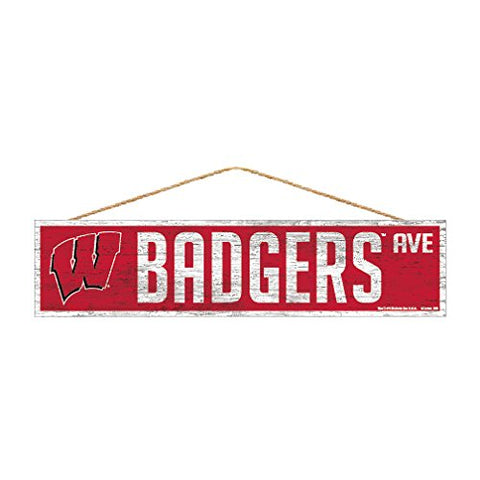 Wisconsin Badgers Sign 4x17 Wood Avenue Design