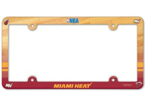 Miami Heat License Plate Frame - Full Color