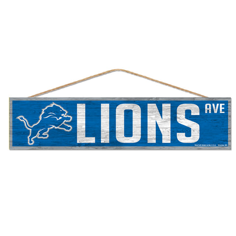 Detroit Lions Sign 4x17 Wood Avenue Design
