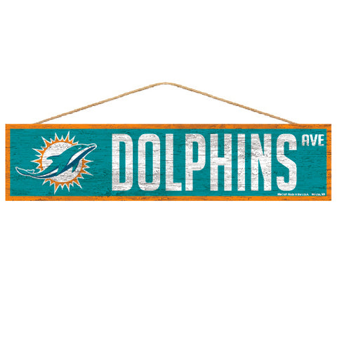 Miami Dolphins Sign 4x17 Wood Avenue Design