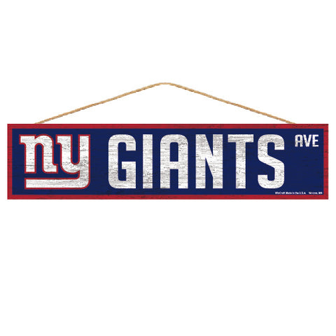 New York Giants Sign 4x17 Wood Avenue Design
