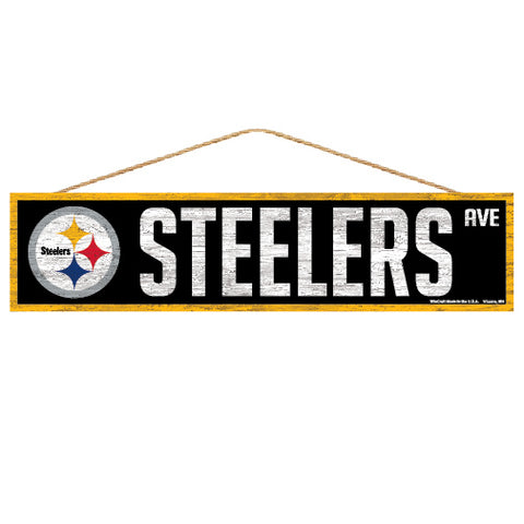 Pittsburgh Steelers Sign 4x17 Wood Avenue Design