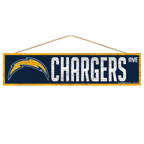 Los Angeles Chargers Sign 4x17 Wood Avenue Design