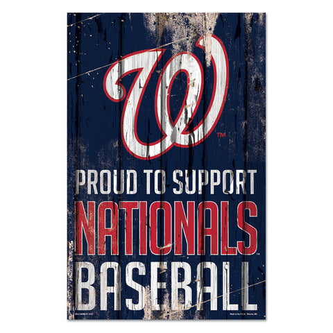 Washington Nationals Sign 11x17 Wood Proud to Support Design - Special Order