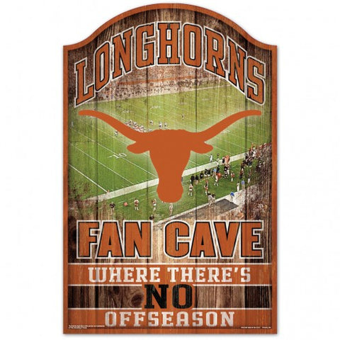 Texas Longhorns Sign 11x17 Wood Fan Cave Design - Special Order