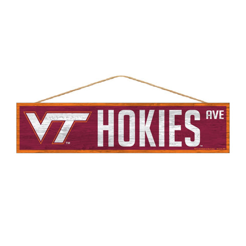 Virginia Tech Hokies Sign 4x17 Wood Avenue Design