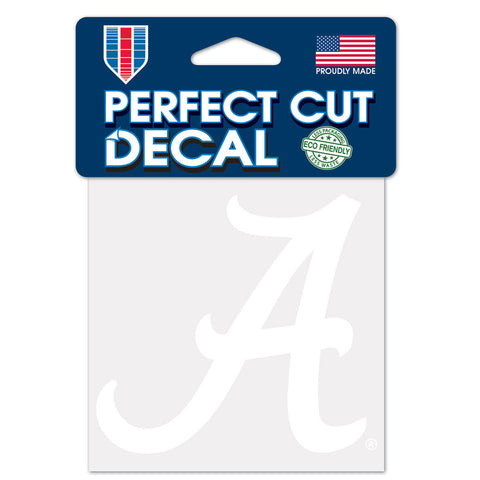 Alabama Crimson Tide Decal 4x4 Perfect Cut White