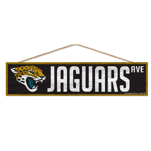 Jacksonville Jaguars Sign 4x17 Wood Avenue Design