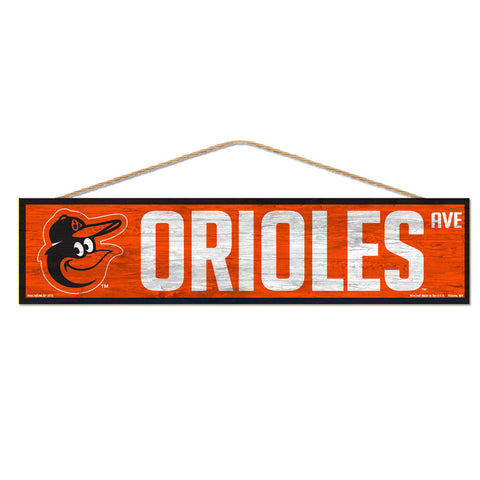 Baltimore Orioles Sign 4x17 Wood Avenue Design - Special Order