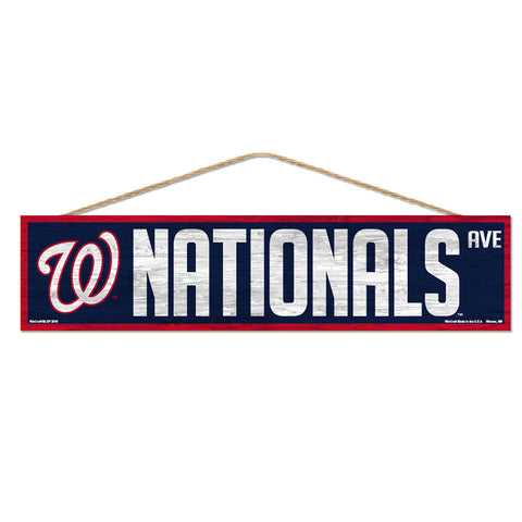 Washington Nationals Sign 4x17 Wood Avenue Design