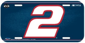 Rusty Wallace License Plate Plastic Special Order