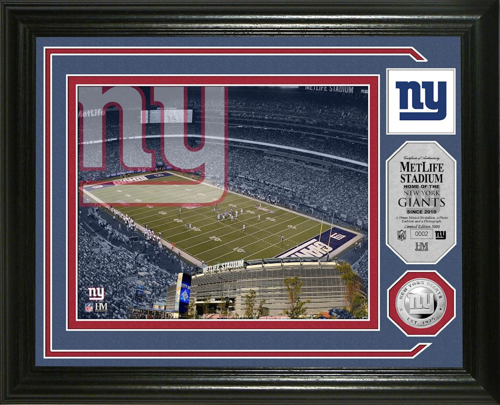 New York Giants Single Coin Stadium Photo Mint
